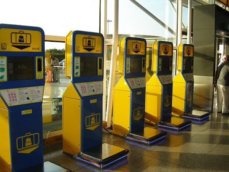 Baggage Check units at Stansted Airport